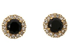 Unusual to wear black stones in the center, but I like 'em! Kate Spade New York Secret Garden Stud Earrings