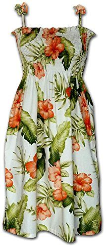 New Trending Formal Dresses: Hawaiian Tube Sun Dress - White  Orange Blossom Pattern. Hawaiian Tube Sun Dress – White  Orange Blossom Pattern  Special Offer: $26.49  144 Reviews Made in Hawaii, USA, this lightweight sundress is constructed from breathable, 100% cotton poplin fabric and features a ruffled top with adjustable tie shoulder straps. The dress is...