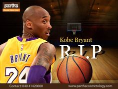"""Kobe Bryant, the great Basketball player , whom we lost to an air crash , always said - """" When you make a choice and say, Come hell or high water, I am going to be this,' then you should not be surprised when you succeed!!"""" He taught us to strive and be persistent. RIP from all at Partha Group Of Clinics, you are an inspiration for us , Sir ! Legends like you , never die; they live on! #RIPKobeBryant Skin And Hair Clinic, You Are An Inspiration, Make A Choice, To Strive, Basketball Players, Kobe Bryant, Like You, Legends, Lost"""