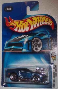 2003 First Editions -#34 1968 Mustang 1968 On Base 2004 Card #2004-46 Collectible Collector Car Mattel Hot Wheels 1:64 Scale