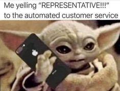 Cute Memes, Stupid Funny Memes, Funny Cute, Funny Stuff, Funny Work, Yoda Meme, Yoda Funny, Yoda Images, Friendship