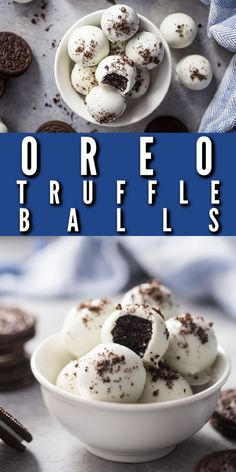 Oreo Balls: easy to make and so much fun! #oreo #balls #easy #recipe #howtomake #christmas #valentinesday #nobake #video #thanksgiving #halloween #peppermint #mint #best #decorated #withalmondbark #3ingredient #chocolate #howtodip #holiday #babyshower #pops #easter #truffles #white #withoutfoodprocessor #withsprinkles #gift #bakingamoment Candy Recipes, Baking Recipes, Holiday Recipes, Chocolate Candy Melts, Melting Chocolate, Easy Treats To Make, Recipes With Marshmallows, Kinds Of Desserts, No Bake Bars