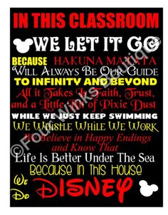 In This CLASSROOM ...... We Do Disney~ ON SALE! by FourWinks on Etsy