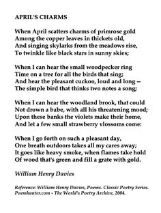 William Henry Davies, April's Charms