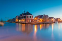HD wallpaper: brown and white lighted house photography, Blue Hour, Nederland The Places Youll Go, Great Places, Places To See, Amsterdam Wallpaper, Holiday Wallpaper, Hd Wallpaper, South Holland, House Photography, Amsterdam City