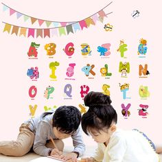 Judek Baby Nursery letters abc Baby Alphabet Playroom peel and stick Wall Art Stickers Decor -- Check this awesome image  : DIY : Do It Yourself Today