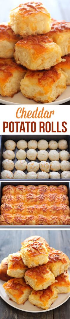 Cheddar Potato Rolls, incredibly easy + yummy!