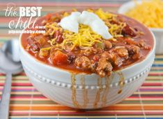 The most delicious and comforting chili ever to be made in your kitchen! | pipandebby.com