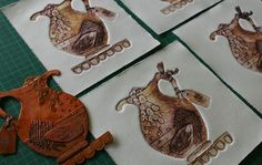 I have a fascination with collagraphs:   I love that found and inexpensive materials can be recycled and used to make something beautifu...