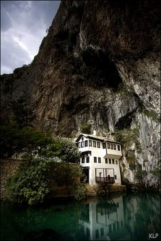 Blagaj Tekke (Dervish House), Bosnia and Herzegovina Oh The Places You'll Go, Places To Travel, Places To Visit, Wonderful Places, Beautiful Places, Amazing Places, Ex Yougoslavie, Bosnia And Herzegovina, Macedonia