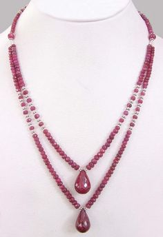 Ruby Bead Necklace - Go to StellarPieces.com for even more stunning jewelry!