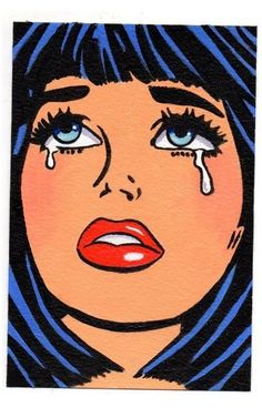 Cartoon Kunst, Comic Kunst, Comic Art, Cartoon Art, Pop Art Girl Crying, Bd Pop Art, Famous Pop Art, Pop Art Tattoos, Pop Art Drawing