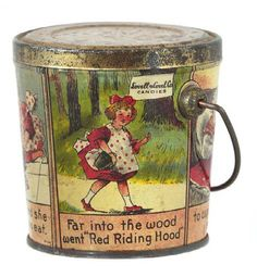 Lovell & Covel Red Riding Hood Candy Pail | Antique Advertising Value and Price Guide