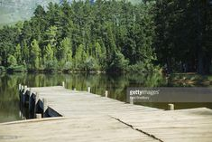 Dock leading to lake