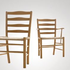 Kaare Klint: Church Chair, 1936 Made by Fritz Hansen. Beech and papercord