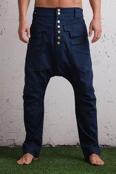 Pierna delgada elegante caída entrepierna harén pantalones   vaqueros  hombres de entrepierna la gota   slim 85c8a37019ed