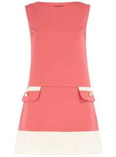 Pink Pocket Mod Dress