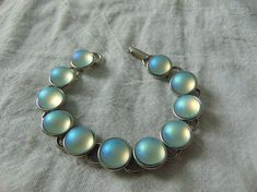 carole sousa bracelet seaview iridescent frosted glass cabs