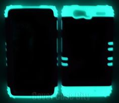 Purple Hard Case w/ Glow in Dark Impact Cover for Motorola Droid RAZR MAXX XT913