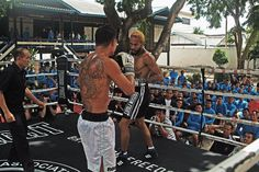 Sean McNabb performing on the ring vs. during Prison Fight at Fight Gym, International Teams, Boxing, Mma, Martial Arts, Prison, Martial Art, Mixed Martial Arts, Combat Sport