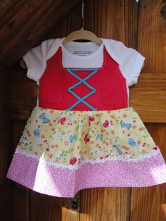 Newborn pink butterfly dirndl dress by adasaccessories4me on Etsy, $24.00