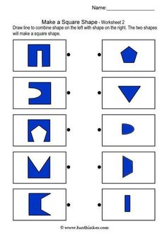 matching square shapes brain teaser worksheets for kindergarten Preschool Worksheets, Learning Activities, Preschool Activities, Kids Learning, Visual Perceptual Activities, Vision Therapy, Phonics Reading, Preschool At Home, Math For Kids