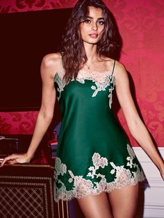 Just plain gorgeous. And even better: it feels as good as it looks. | Victoria's Secret Lace Applique Satin Slip