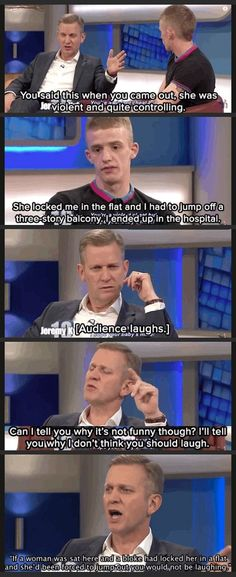 Omg I can't believe I feel respect for something that came out of Jeremy kyles mouth!!!