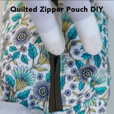 DIY Quilted Zipper Pouch: This quilted zipper pouch can be made in a jiff! Get t… DIY Quilted Zipper Pouch: This quilted zipper pouch can be made in a jiff! Get the free pattern and spend an afternoon taking your quilting to the next level. Sewing Projects For Beginners, Sewing Tutorials, Sewing Hacks, Sewing Crafts, Sewing Tips, Hand Sewing Projects, Techniques Couture, Sewing Techniques, Midnight Quilt Show