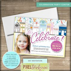 Celebration Party & Event Center // by PixelStickStudio on Etsy, $5.00