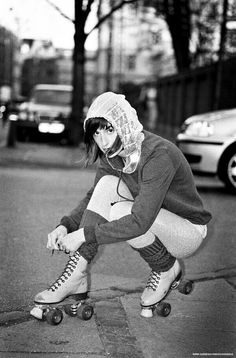 -Roller skates..