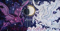 Von mir koloriert. Good versus Evil #mythomorphia #kerbyrosanes #prismacolor #posca #acryl #adultcoloringbook