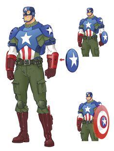 Captain America Redesign by Shane McDermott