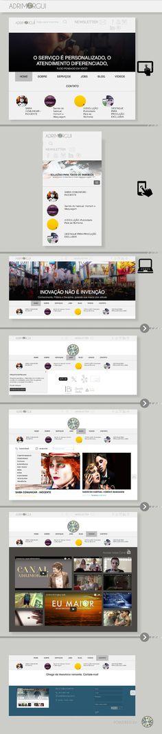 Desenvolvimento website.  (Projeto completo). Por Adri Guimarães