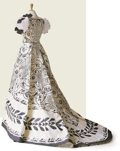 Yes, it's really made of paper! Dress inspired by Frédéric Worth,1898 by Isabelle de Borchgrave