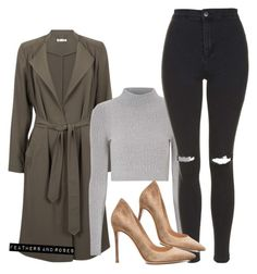 """""""Fall   F&R"""" by sunrisun ❤ liked on Polyvore featuring мода, Glamorous, Topshop и Gianvito Rossi"""