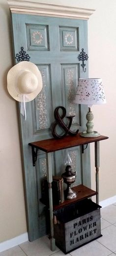 Transform an Old Door into a Hall Tree (Maybe multiple doors for a mud entry)