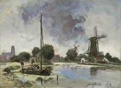 Johan Barthold Jongkind - De Schie bij Rotterdam (1869)