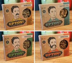 Tiana and I came across Upton's at Natural Products Expo West about a month ago and are now thrilled to be able to share the brand with you as a complete feature. This packaging showcases great illustration & design. I also love that it is printed with soy-based inks on chipboard.