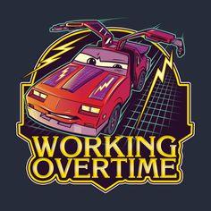 Awesome 'Working+overtime' design on TeePublic!