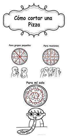 Las diferentes formas de picar una pizza, pero ustedes que me conocen, saben como la pico yo