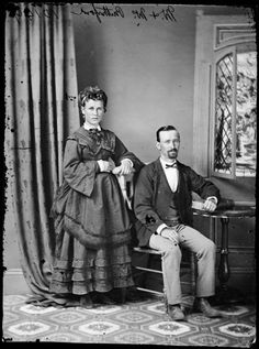 Mr. and Mrs. Rutherford c. 1870-75  State Library of New South Wales