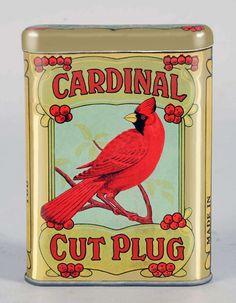 Pocket Tobacco Tin - Cardinal