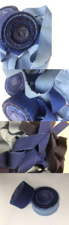 Rug Braiding Supplies 183229 Rag Fabric Strips Rugmaking Amish Knot Braided Blue 60