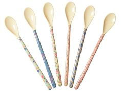 RICE set of 6 long melamine spoons #worthynzhomeware wwworthy.co.nz