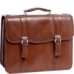 McKlein USA V Series Flournoy Leather Double Compartment Laptop Case - eBags.com