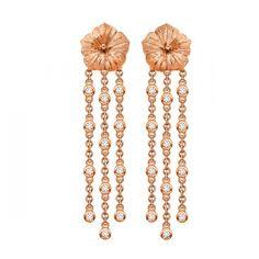 Diamond Hibiscus Cascade Earrings