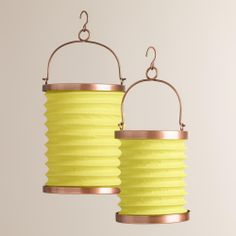 Green Fabric Folding Lanterns | World Market