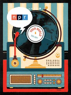 Wonder if my kids even know what NPR is? Who cares, totally rad poster, and its going in my room.