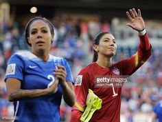 Hope Solo of United States of America thanks the fans after the Group D match between United States of America and Sweden of the FIFA Women's World Cup 2015 at Winnipeg Stadium on June 12, 2015 in Winnipeg, Canada.